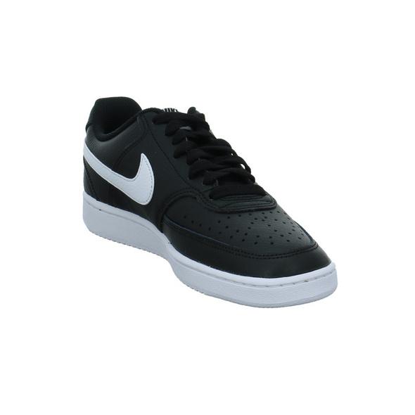Nike Damen WMNS Court Vision Low Schwarz Weiße Synthetik Sneaker