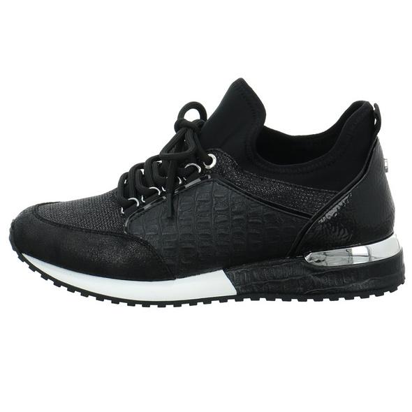 La Strada Damen 1900356-1401 Schwarzer Synthetik/textil Sneaker