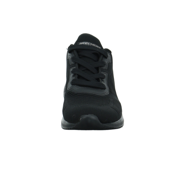 Skechers Damen Bobs Squad Tough Talk Schwarzer Textil Sneaker