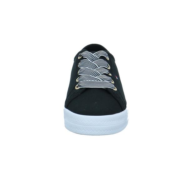 Tommy Hilfiger Damen Essential Nautical Schwarzer Textil Sneaker