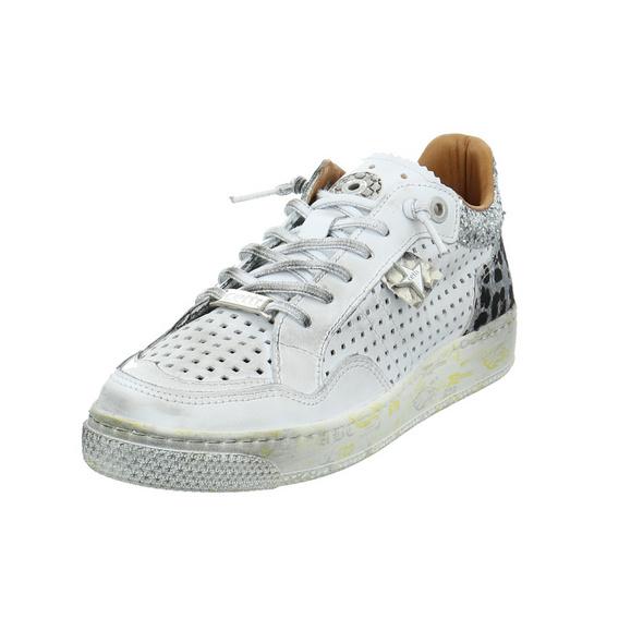 Cetti Damen C-1181 SRA SWEET DIRTY Weißer Glattleder Sneaker