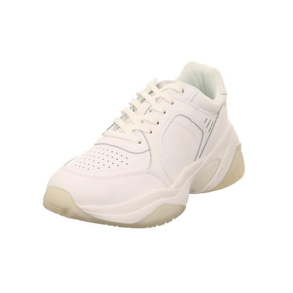 Tamaris Damen 23735-146 Weiße Glattleder Sneaker