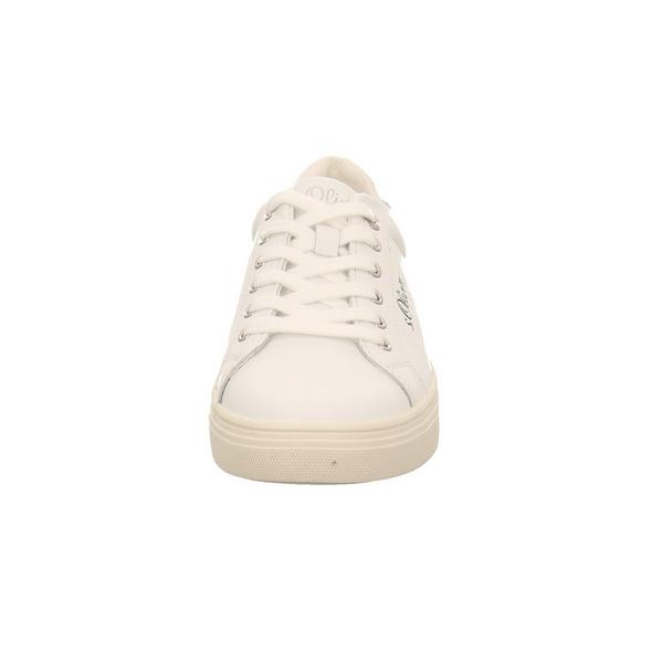 S.Oliver Damen 23660-107 Weißer Glattleder Sneaker
