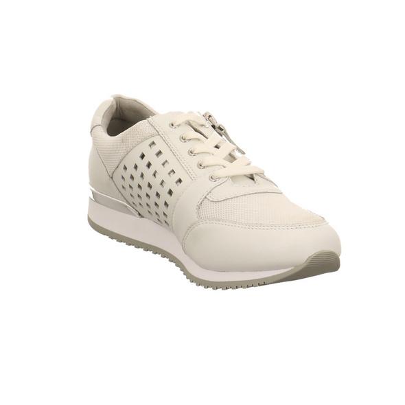 Caprice Damen 235003-197 Weiß Kombinierter Leder/textil Sneaker