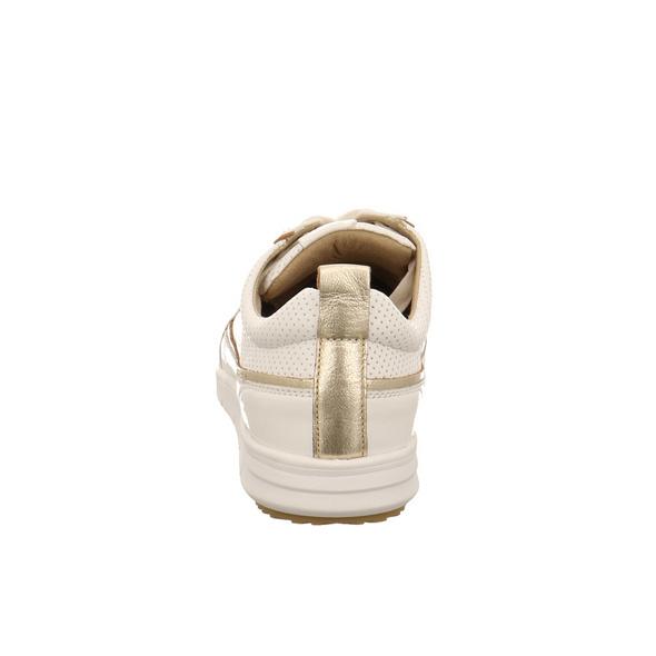 Caprice Damen 23753-102 Weißer Glattleder Schnürschuh