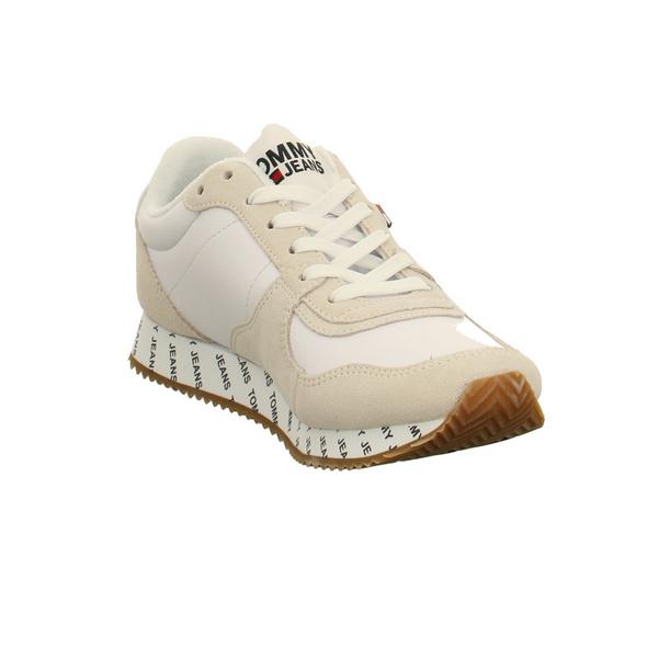 Tommy Hilfiger Damen Jeans Casual Weiße Veloursleder Sneaker