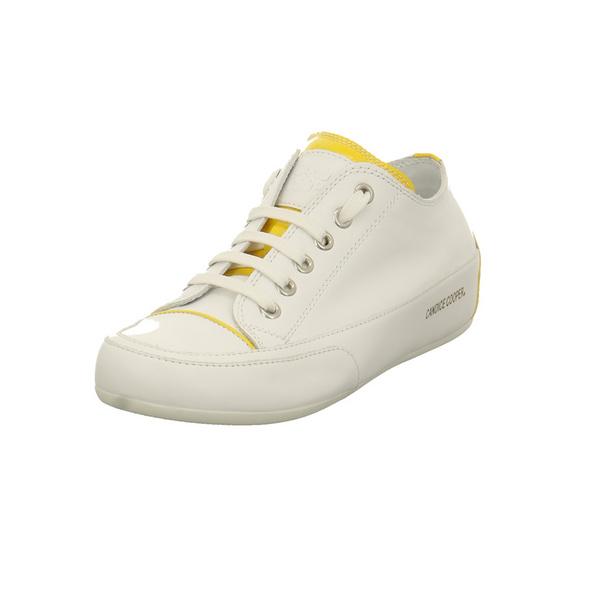 Candice Cooper Damen Rock PR 1 Weißer Glattleder Sneaker