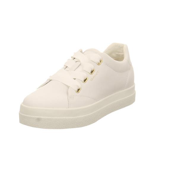 Gant Damen Avona Weißer Glattleder Sneaker