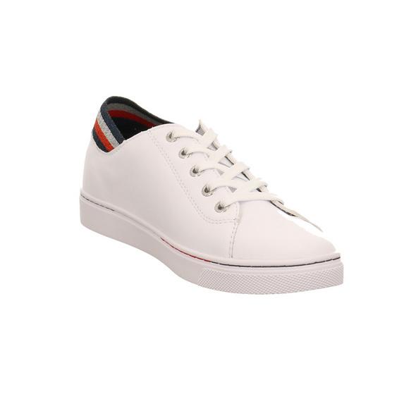Tommy Hilfiger Damen Glitter Detail City Weißer Leder/Textil Sneaker