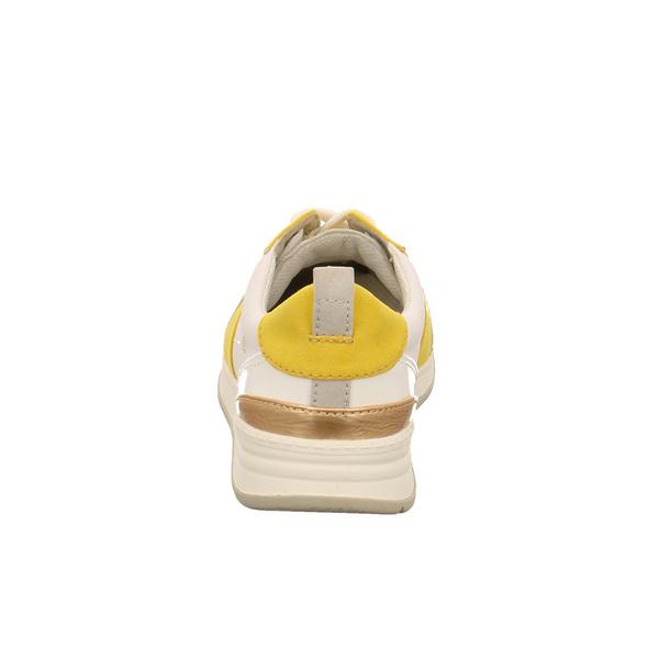 Jana Damen 23663-690 Weiß/Gelber Synthetik Sneaker