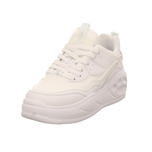 Buffalo Damen Flat CPX Weißer Synthetik/Textil Sneaker