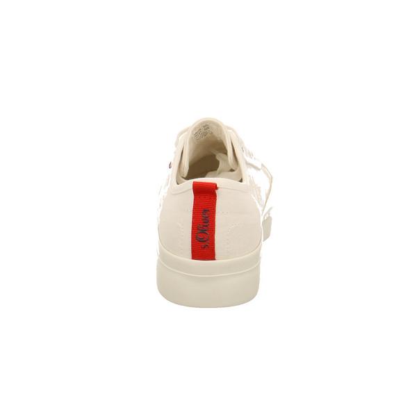 S.Oliver Damen 23678-100 Weißer Textil Sneaker