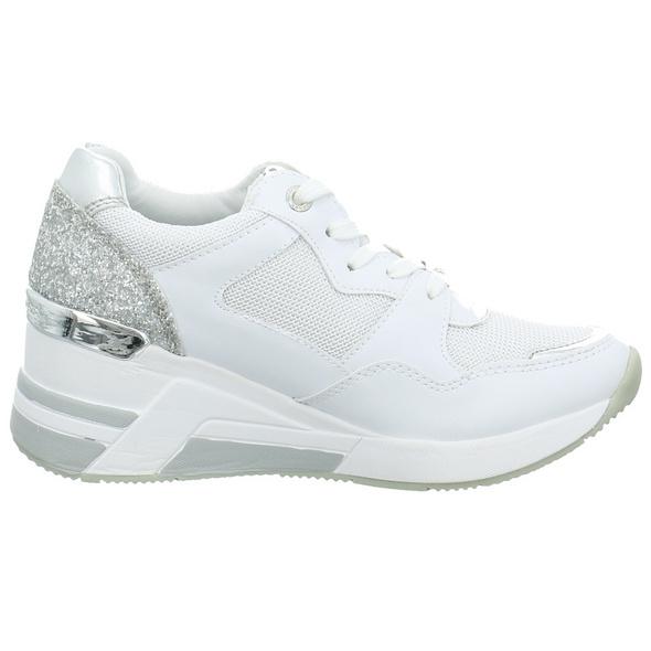 Tom Tailor Damen 809151 Weißer Synthetik/Textil Sneaker