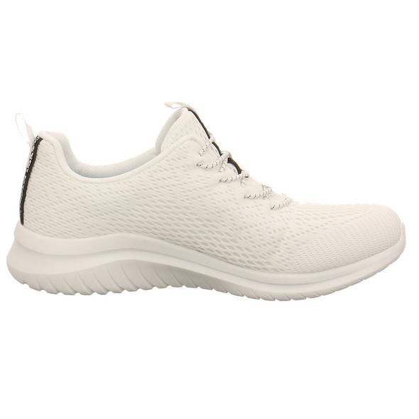 Skechers Damen Ultra Flex 2.0 Lite Groove Weiße Textil Sneaker