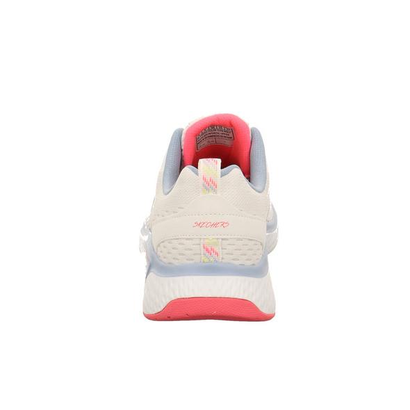 Skechers Damen Solar Fuse Cosmic View Weißer Textil Sneaker