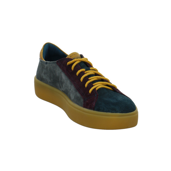 Think Damen Gring Muticolorfarbener Veloursleder Sneaker