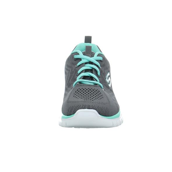 Skechers Damen Graceful Get Connected Grauer Textil Sneaker