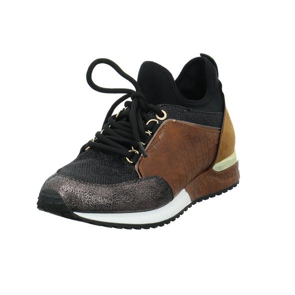 La Strada Damen 1900356-1420 Brauner Textil Sneaker