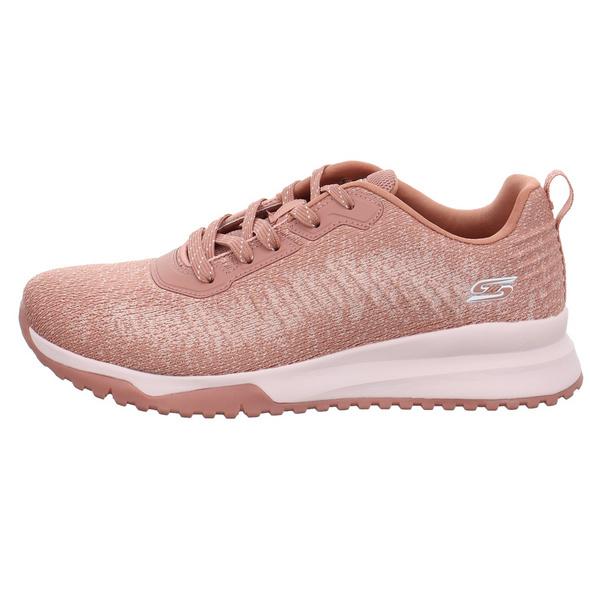 Skechers Damen 117179BLSH Roséfarbener Textil Sneaker