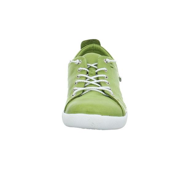Andrea Conti Damen 0345724-262 Grüne Glattleder Sneaker