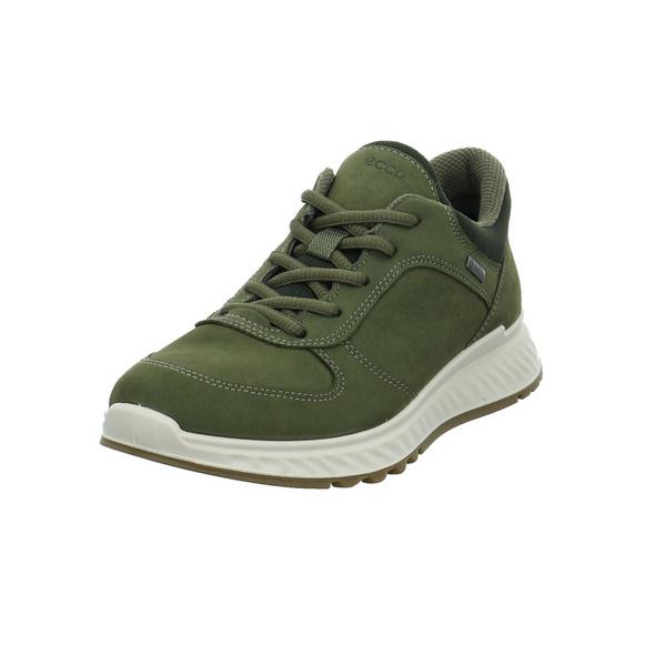 Ecco Damen Exotride W Grüner Leder/Textil Sneaker