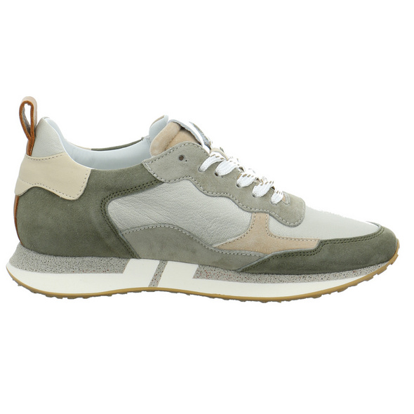 Maripe Damen Adelaide-6 Marte Grüner Glatt-/Veloursleder Sneaker
