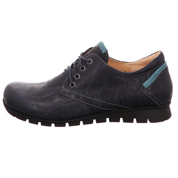 Think! Menscha Damen Schnürschuhe aus Glattleder in schwarz