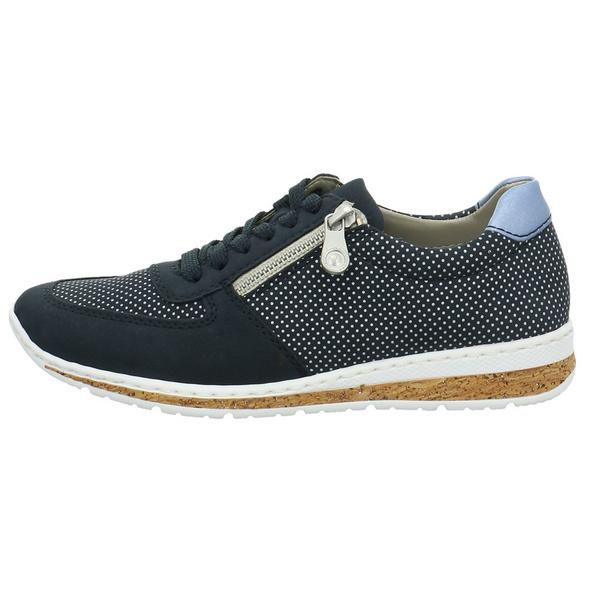 Rieker Damen N5121-14 Blaue Synthetik Sneaker