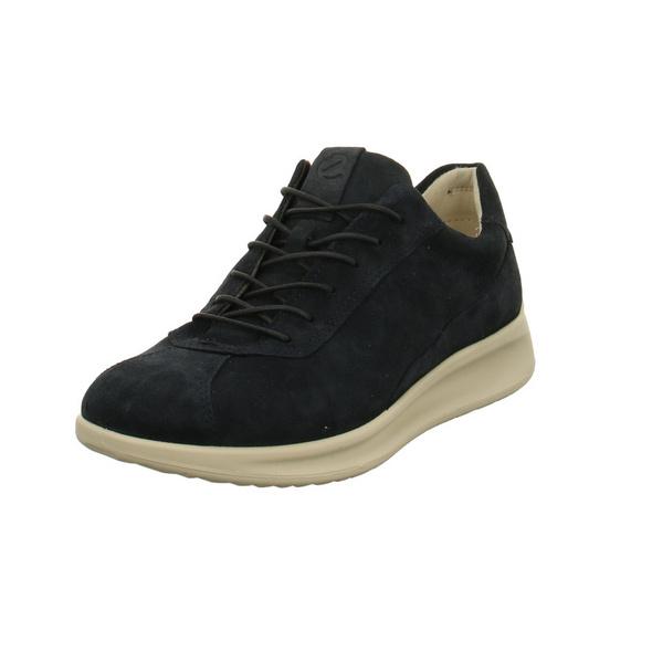 Ecco Damen Aquet w Blaue Nubukleder Sneaker