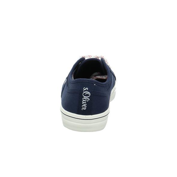 S.Oliver Damen 23644-805 Blauer Textil Sneaker
