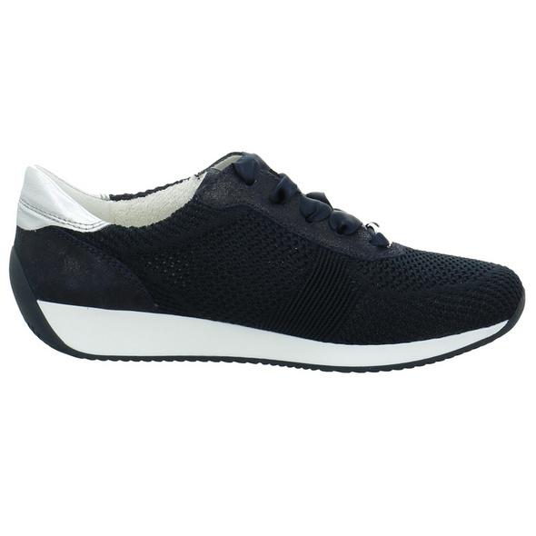 Ara Damen Lissabon Fusion 4 Blaue Mesh Sneaker
