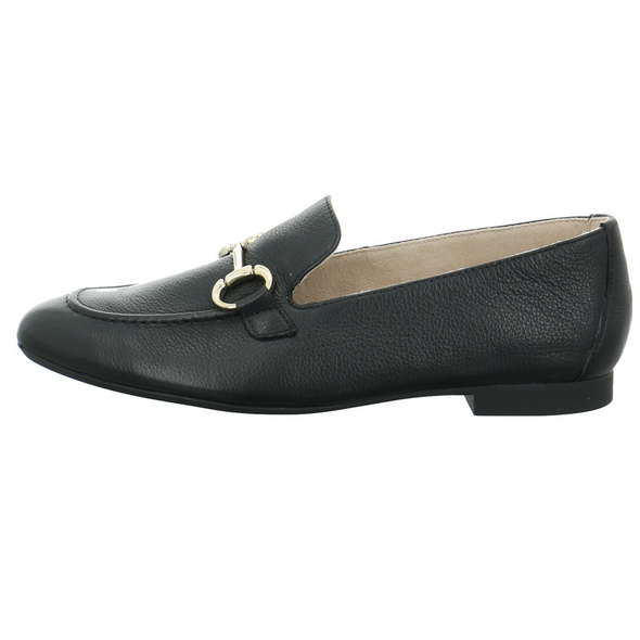 Paul Green Damen 2596-008 Schwarzer Glattleder Slipper