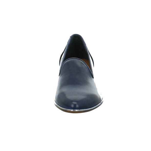 Everybody Damen 30544C2399-199 Blauer Glattleder Slipper