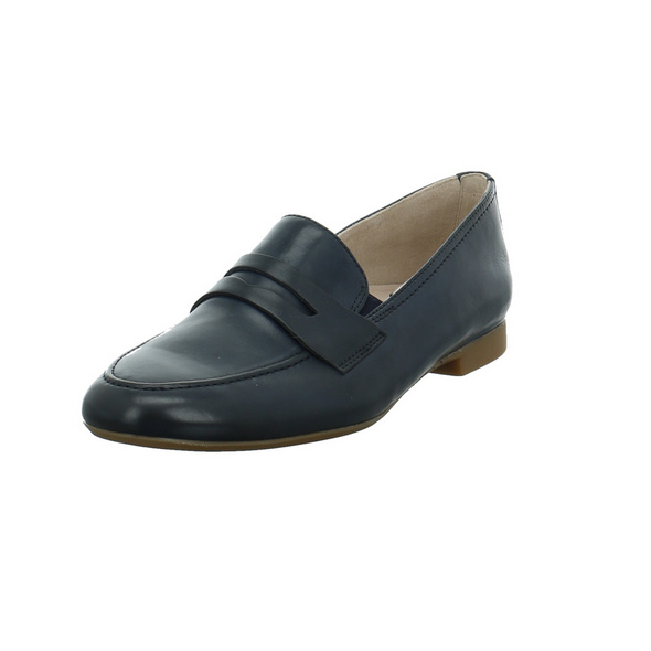 Paul Green Damen 2593-028 Blauer Glattleder Slipper