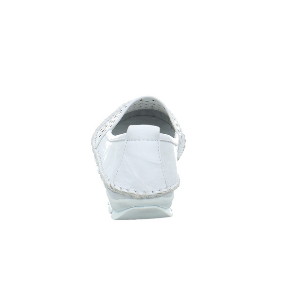 Gemini Damen 003128-01-001 Weißer Glattleder Slipper