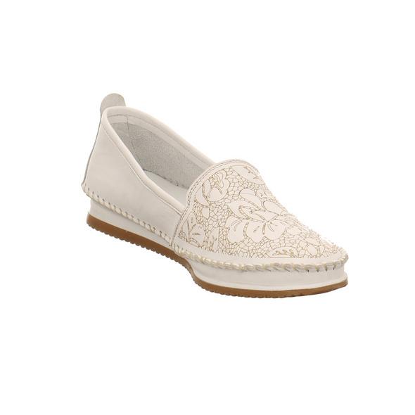 Andrea Conti Damen 1887805-001 Weiße Glattleder Slipper