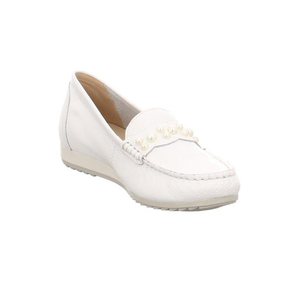 Caprice Damen 24208-105 Weiße Glattleder Slipper