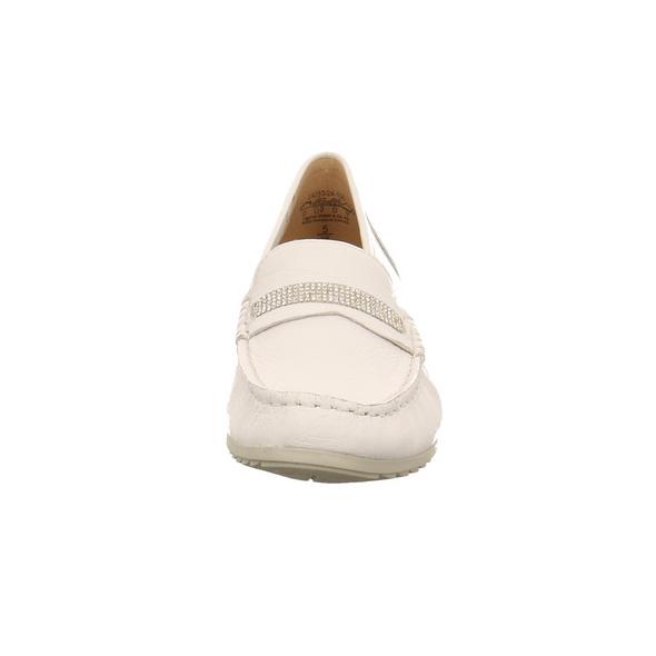 Caprice Damen 24253-105 Weißer Glattleder Mokassin