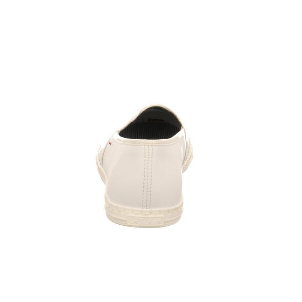 Rieker Damen M2770-81 Weißer Synthetik Slipper