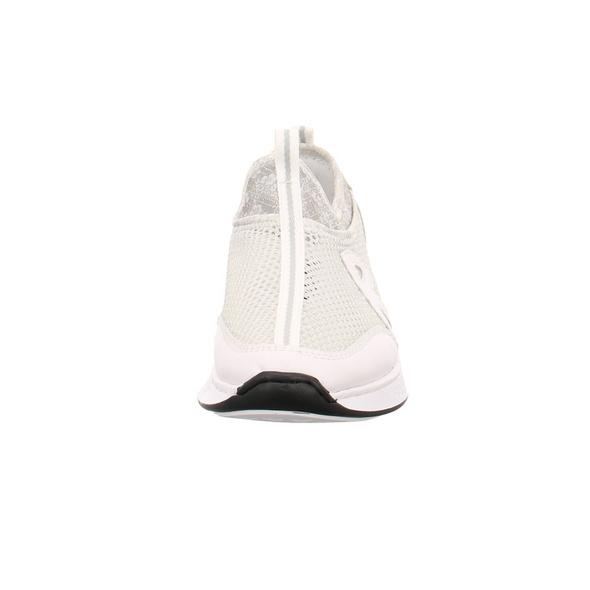 Rieker Damen N5654-80 Weiße Synthetik Slipper