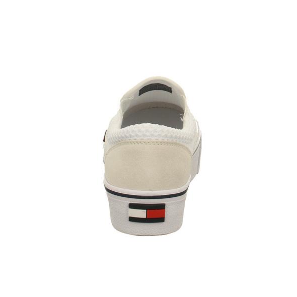 Tommy Hilfiger Damen - WMS Supon Textil City - Weißer Leder/Textil Sneaker