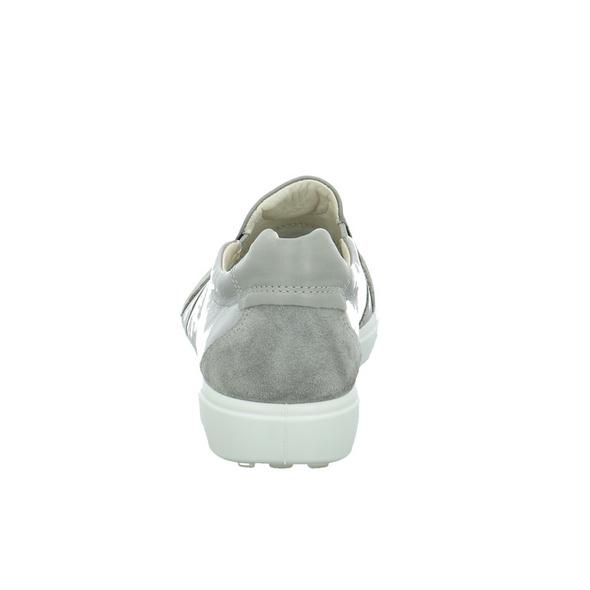Ecco Damen Soft 7 Grauer Materialkombinierter Slipper