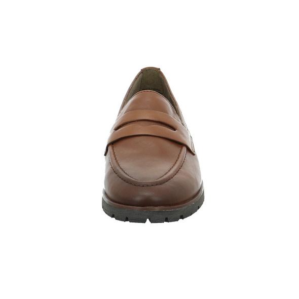 Jana Damen 24601-305 Brauner Glattleder Slipper