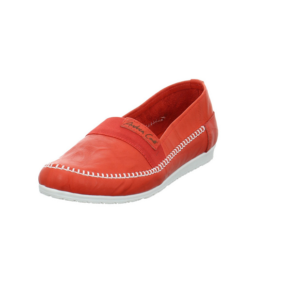 Andrea Conti Damen 0029612-021 Rote Glattleder Slipper