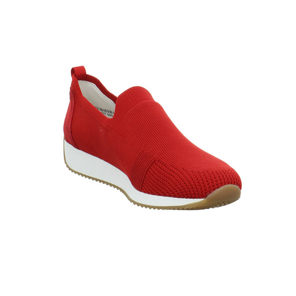 Ara Damen Lissabon Fushion 4 Rote Mesh Slip on Sneaker