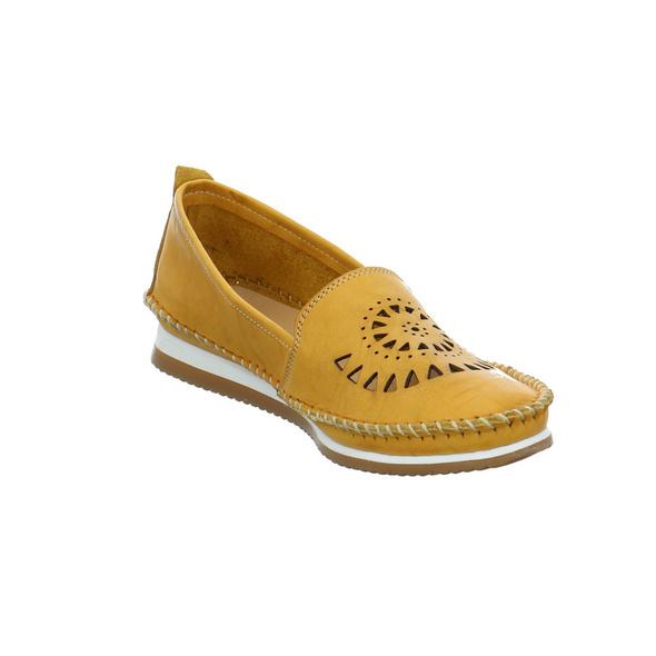 Andrea Conti Damen 1889602-116 Gelbe Glattleder Slipper