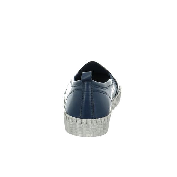 Marco Tozzi Damen 24613-805 Blauer Glattleder Slipper