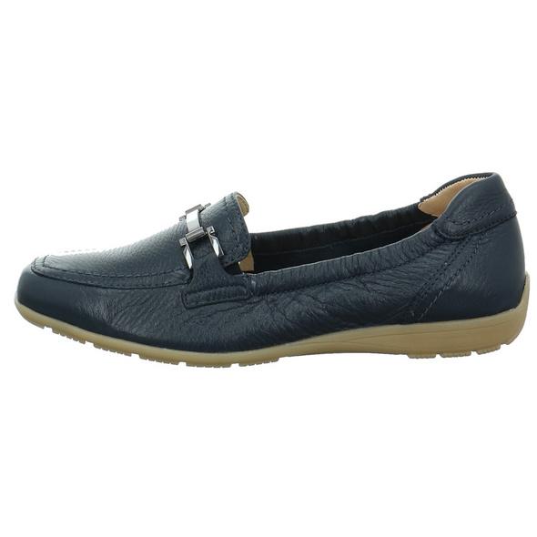 Caprice Damen 24661-840 Blaue Glattleder Slipper