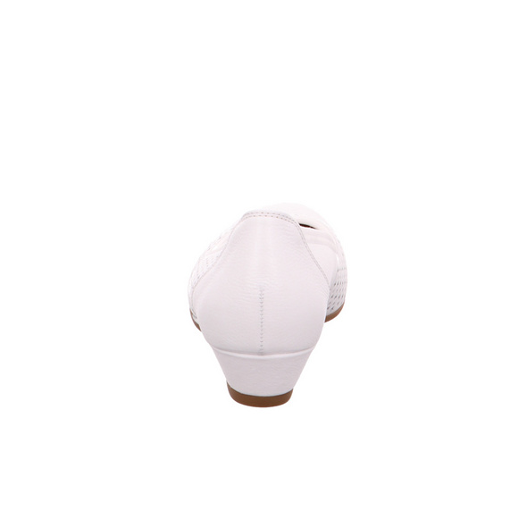 Gabor Comfort Damen Kreta Weiße Glattleder Pumps