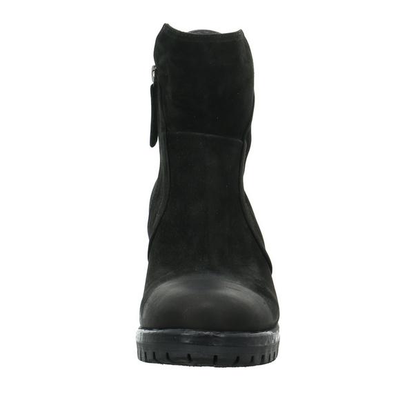 Lazamani Damen 67.030 schwarze Nubuk Stiefelette
